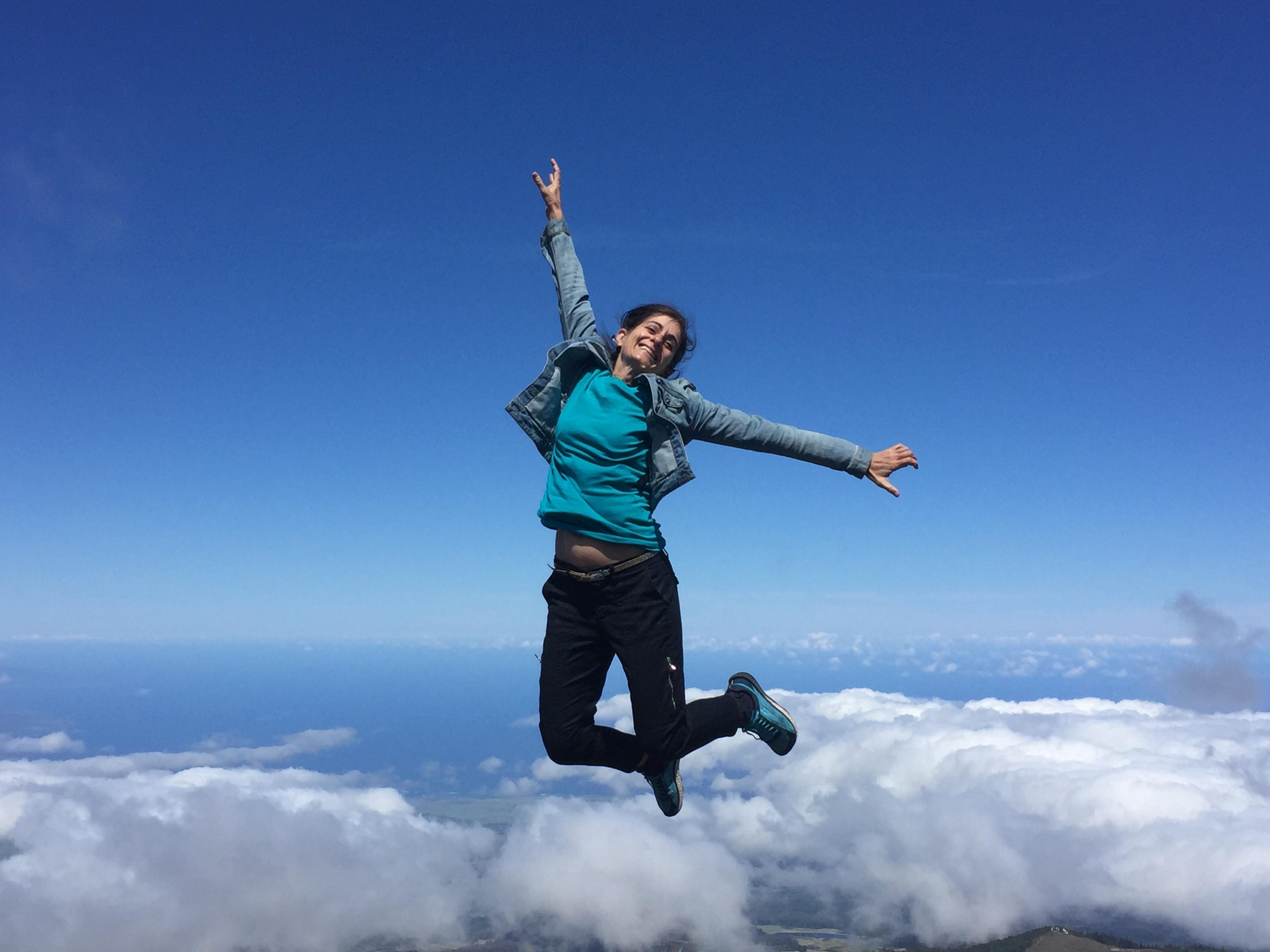 H Sandra flying